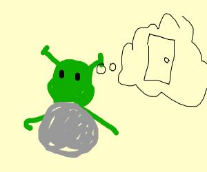Ogre imagining a Door