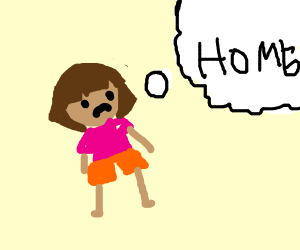 Dora thinking about home