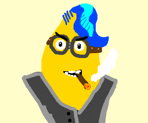 punk blue-haired fruit