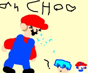 Mario Sneezing