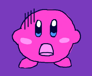 Kirby is scared :(