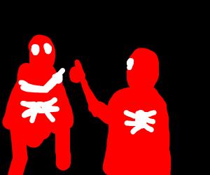 Spiderman pointing at spiderman meme