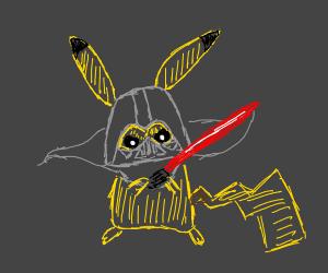 cutesy posed pikachu vader