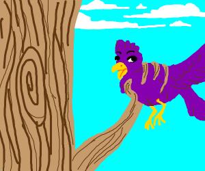 Tree grabs a bird
