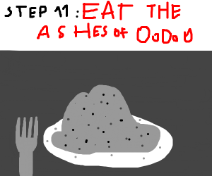 Step 10: Dispose of the OoOoO ashes.