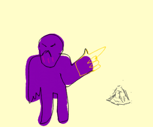 Thanos made someone into dust