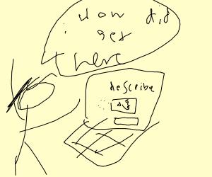 Wamen doesn't know how she got to drawception