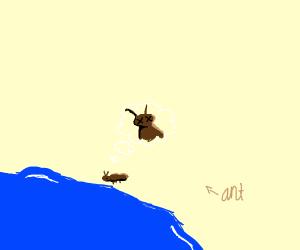 Ant commits die