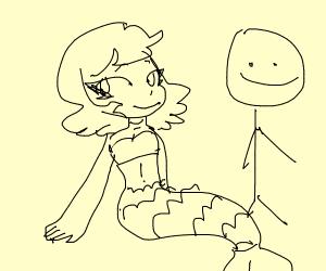 Mermaid and Stick Man