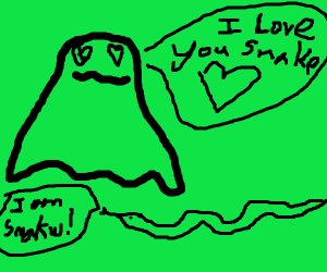 Ghost in love with snakw