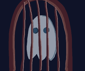 Ghost trapped within a cage