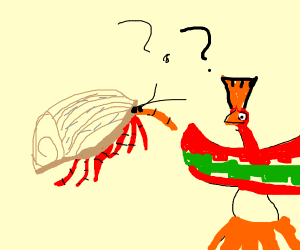 Ho-Oh and a hermit crab question each other