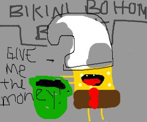 SpongeBob robs a bank