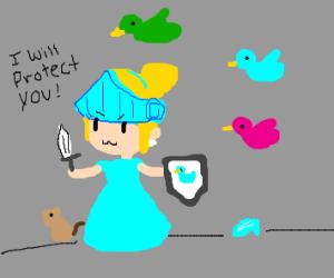 Cinderella is a knight