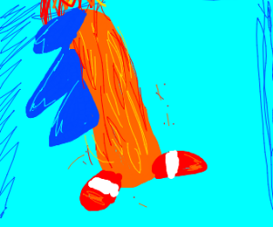 Flaming Cheeto Sonic the Hedgehog