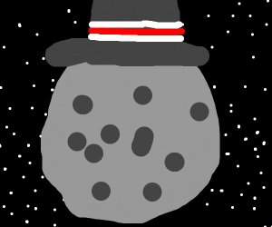 Moon wearing a Hat
