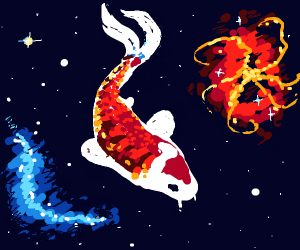 intergalactic koi fish