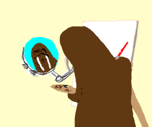 A walrus painting a self portrait