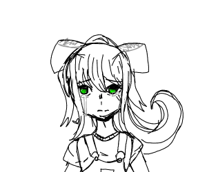Little girl Monika is crying