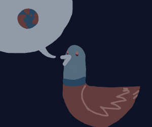 a duck talking about earth