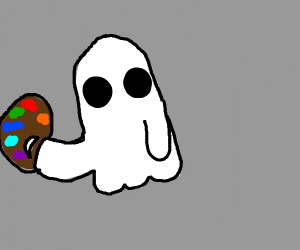 ghost with color palette in hand