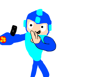 megaman taking a selfie