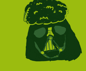 darth vader but with an afro???