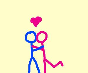 Stickgirl Falls In Love With Stickman