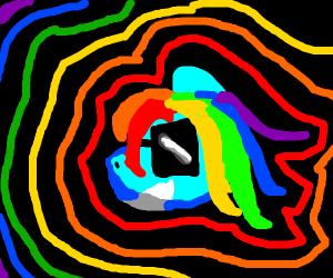 Rainbow Dash wearing sunglasses