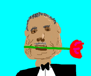 The Godfather w/ a red rose