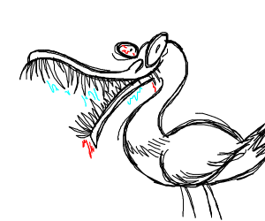Carnivorous duck