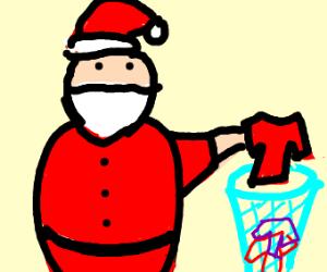 Santa doing Laundry