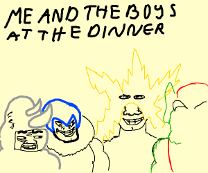 Me and the boys at the dinner table
