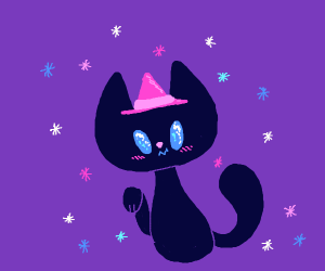 cute little witch kitty!