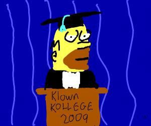 homer graduated klown kollege