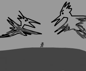 Intimidating birds