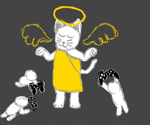 God cats telling gamers what to