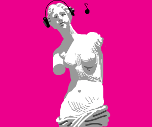 Venus de Milo hears wild music