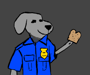 DogCop offers a toast