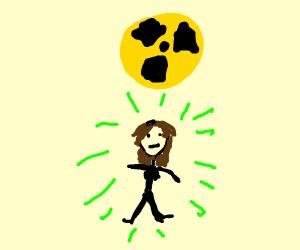 a radioactive girl