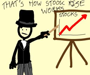 A gangster describing the stock rise