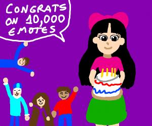 Congrats on 10,000 emotes!