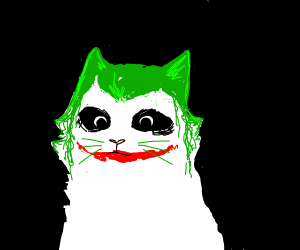 The Joker as a cat