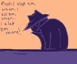 The slap-assasin describes his profession