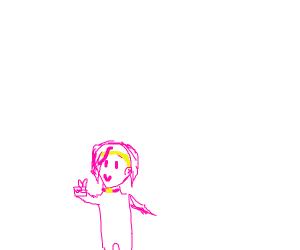 Reimi Sugimoto [JJBA] does a v-sign