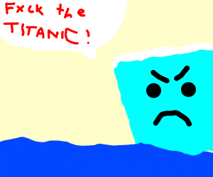 angry iceberg