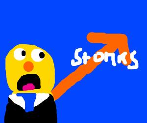 Yellmo shouts stonks