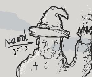 A wizard loses his magic