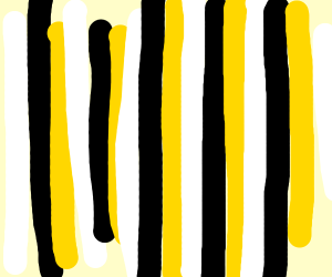 white black and yellow stripes