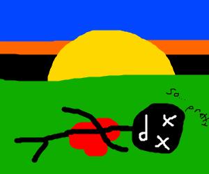 dude freaking dies because of byutiful sunset
